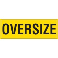 OVERSIZE 1200 x 450mm Class 2 Reflective Sign - Steel Plate