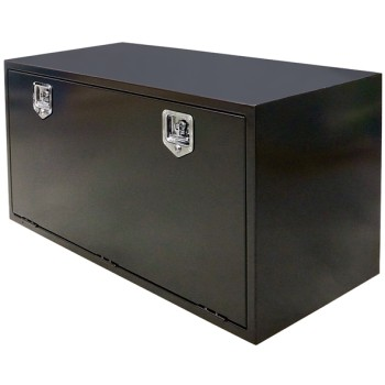 Truck & Trailer, Black Powder Coated Toolbox - 1220mm (W) x 610mm (H) x 560mm (D)