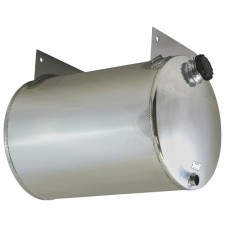 WATER TANK POLISHED ALUMINIUM WITH MOUNT BRACKETS - 60 LITRE