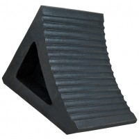 Jumbo Wheel Chock - Black Rubber