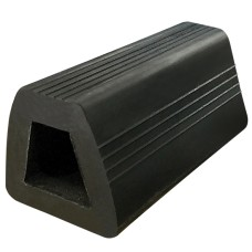 Black Bump Stop Rubber Flat - 300mm Length