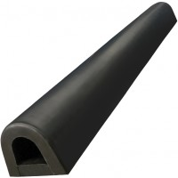 Black Bump Stop Rubber Round D Shape - 1 meter Length