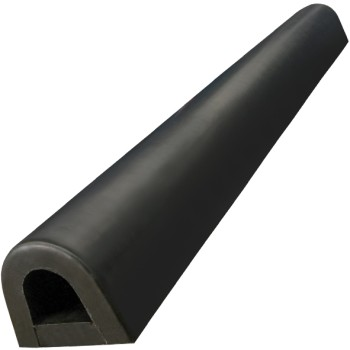 Black Bump Stop Rubber Round D Shape - 900mm Length