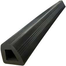 Black Bump Stop Rubber Flat D shape - 1.2 meter Length