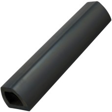 Black Bump Stop Rubber Flat - 460mm Length
