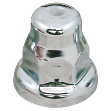 Chrome Nut Cover - 33mm Flat Top
