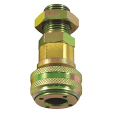 "Bulkhead Coupling 1/2"" BSP - Self Sealing"