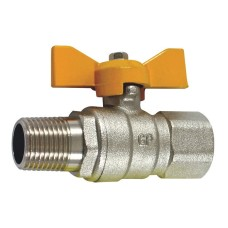 "Shut Off Tap, Short Handle  - 1/2"" Male / Female"