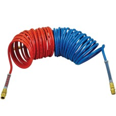 Red & Blue Suzie Coil Set 10m  - Long Tail