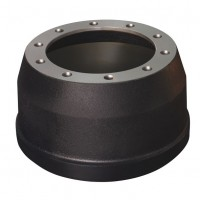 "Brake Drum, 335 PCD / 16.5"" x 7"" - 10 Stud ISO"