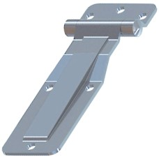 Side Door Hinge Assembly with 3 Hole Butt - Zinc Plated.