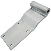 SCTEG Vans / Curtain Sider Square Hinge - Polished Aluminium