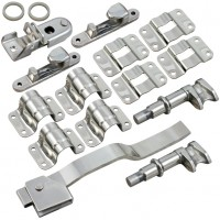 Door Lock Kit. Suit 34mm Pipe - Stainless Steel