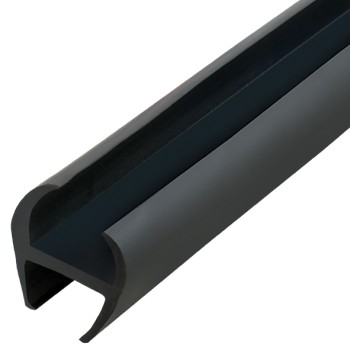 "Black Rubber Door Seal ""H"" Type - 20mm"