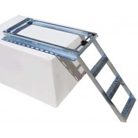 Heavy Duty Slide Out Step Ladder - 3 Step - Zinc Plated