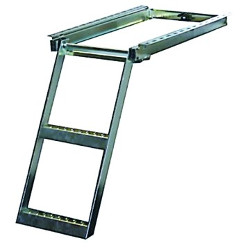 Heavy Duty Slide Out Step Ladder - 2 Step - Zinc Plated