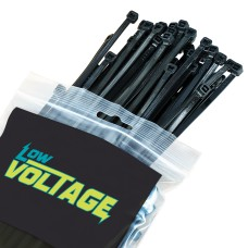 Black Cable Ties - 4.2mm x 205mm / Pack 100. Comes with Mounting Head