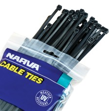 Black Cable Ties - 4.8mm x 370mm / Pack 10