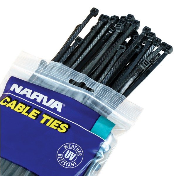 81aed2175662 Black Cable Ties - 4.8mm x 200mm / Pack 100