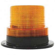 LED Strobe With Fixed Mount Base - Amber