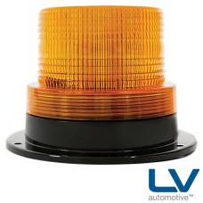 LV Halogen Strobe With Fixed Mount Base - Amber