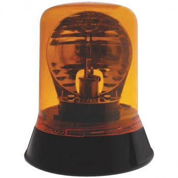Halogen Rotating Beacon With Fixed Mount Base - Amber
