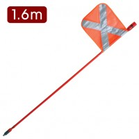 LED Mining Whip with top mounted Red LED - 1.6m