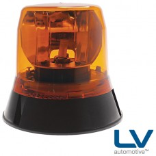 LV Halogen Rotating Beacon With Fixed Mount Base - Amber