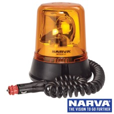 NARVA Halogen Optimax Rotating Beacon With Magnetic Base - Amber