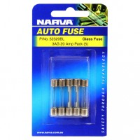 Narva 3AG Glass Fuse, 5 Pack - 20 AMP