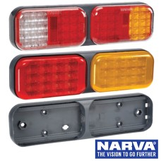 Narva Model 41 LED Rear Direction Twin Lamps with Grey Housing & 0.5m Cable