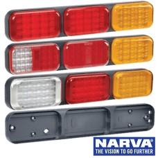 Narva Model 41 LED Rear Direction Triple Lamps with Grey Housing & 0.5m Cable