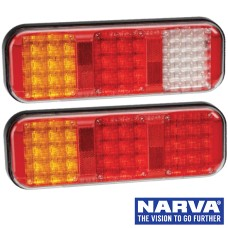 Narva Model 42 LED Rear Direction Lamps with In-Built Reflectors & Cable