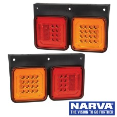 Narva Model 47 LED Rear Direction Lamps with In-built Retro Reflector - 330 x 199mm