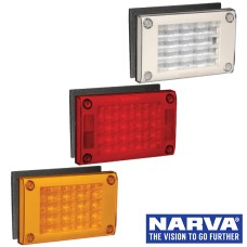 Narva Model 48 LED Rear Direction Lamps with Surface Mount Gasket & Security Caps