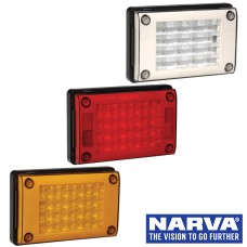 Narva Model 48 LED Rear Direction Lamps with Black Housing & Security Caps
