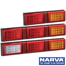 Narva Model 49 LED Rear Direction Lamps with In-built Retro Reflector - Coloured Lens