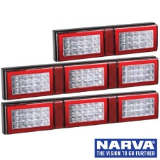 Narva Model 49 LED Rear Direction Lamps with In-built Retro Reflector - Clear Lens