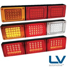 LV LED Combination Lamps - Stop / Tail / Indicator / Reverse, Multivolt with 1m Cable