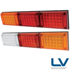 LV LED Jumbo Combination Lamps - Stop / Tail / Indicator, 10-30V DC