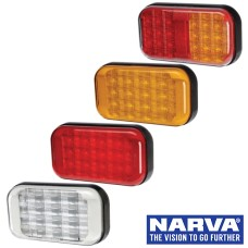 Narva Model 41 LED Rear Direction Single Lamps with Black Base & 0.5m Cable