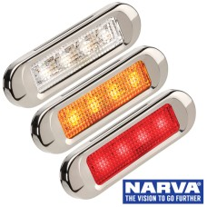 Narva Model 8 / LED Courtesy, Front & Rear Outline Marker Lamps - Stainless Steel Cover with 0.5m Cable