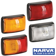 Narva Model 14 / LED Marker Lamp With Black Deflector Base & 0.5m Cable