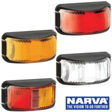 Narva Model 16 / LED Marker Lamps With Black Deflector Base & 0.5m Cable