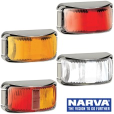 Narva Model 16 / LED Marker Lamps With Chrome Deflector Base & 0.5m Cable