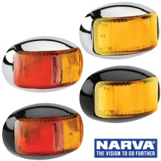 Narva Model 16 / LED Side Marker & Indicator Lamps with Oval Base & 0.5m Cable