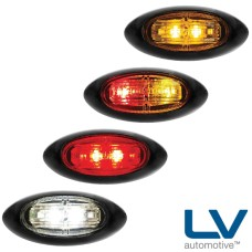 LV LED Oval Marker Lamps - 87mm x 40mm x 21mm
