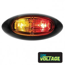 LED Oval Marker Lamp - Red / Amber