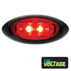 LED Oval Marker Lamp - Red