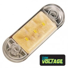 LED Low Profile Marker Lamp - Amber / Clear